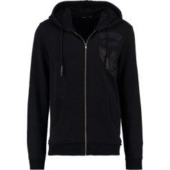 Tigha MAURO PATCH Bluza rozpinana black. Bluzy męskie Tigha, z bawełny. W wyprzedaży za 439.20 zł.