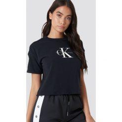 Calvin Klein T-shirt Teco True Icon - Black. Czarne t-shirty damskie Calvin Klein, z nadrukiem, z bawełny. Za 202.95 zł.