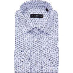 Koszula Biała w Kwiatki Flow. Białe koszule męskie LANCERTO, z haftami, z bawełny. Za 299.90 zł.