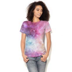 Colour Pleasure Koszulka CP-030  51 różowo-niebiesko-żółta r. XL/XXL. Bluzki damskie marki Colour Pleasure. Za 70.35 zł.