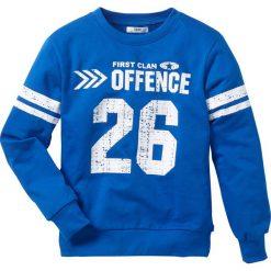 """Bluza """"college"""" bonprix lazurowy. Bluzy dla chłopców bonprix, z nadrukiem. Za 27.99 zł."""