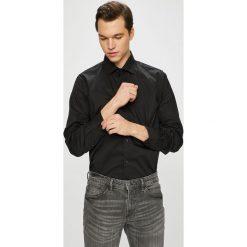 Pierre Cardin - Koszula. Szare koszule męskie Pierre Cardin, z bawełny, z włoskim kołnierzykiem, z długim rękawem. W wyprzedaży za 239.90 zł.