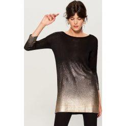 Długi sweter z efektem ombre - Czarny. Czarne swetry damskie Mohito. Za 129.99 zł.