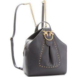Plecak PINKO - Alkan Backpack. AI 18-19 PLTT 1P2171 Y4YM Dark Grey I76. Szare plecaki damskie Pinko, ze skóry. W wyprzedaży za 1,279.00 zł.