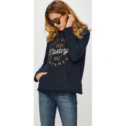 Mustang - Bluza. Czarne bluzy damskie Mustang, z nadrukiem, z bawełny. Za 269.90 zł.