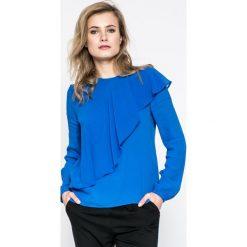 Pepe Jeans - Bluzka Leonarda. Niebieskie bluzki damskie Pepe Jeans, z jeansu, casualowe, z okrągłym kołnierzem. W wyprzedaży za 199.90 zł.