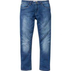 Dżinsy dresowe Regular Fit Straight bonprix niebieski. Jeansy męskie marki bonprix. Za 99.99 zł.