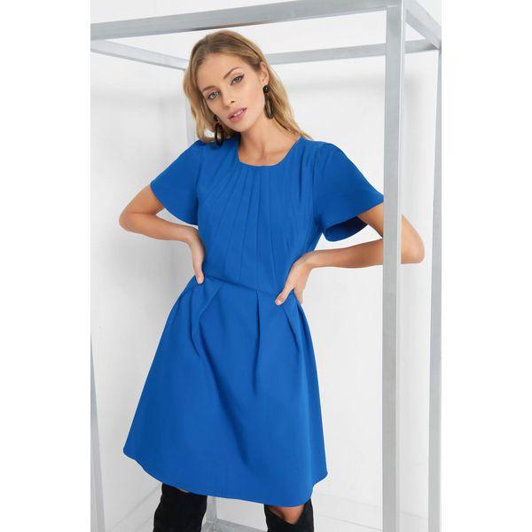 11ccd6d4a405 Rozkloszowana sukienka - Niebieskie sukienki damskie marki Orsay