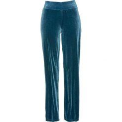 Spodnie aksamitne bonprix niebieskozielony morski. Zielone spodnie materiałowe damskie bonprix, w paski. Za 119.99 zł.