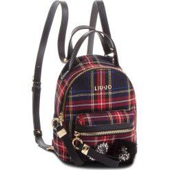 Plecak LIU JO - S Backpack Brentac N68066 T7811 Tartan Nero/Red V9644. Czarne plecaki damskie Liu Jo, z materiału, klasyczne. Za 469.00 zł.