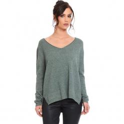 """Sweter """"Talia"""" w kolorze khaki. Brązowe swetry damskie Cosy Winter, ze splotem. W wyprzedaży za 181.95 zł."""
