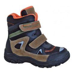 Protetika Buty Zimowe Za Kostkę Chłopięce Zan 32, Czarny/Brązowy. Brązowe buty zimowe chłopięce Protetika, ze skóry. Za 209.00 zł.