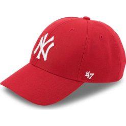 Czapka z daszkiem 47 BRAND - New York Yankees 47 B-MVP17WBV-RD Czerwony. Czerwone czapki i kapelusze męskie 47 Brand, z materiału. Za 89.00 zł.