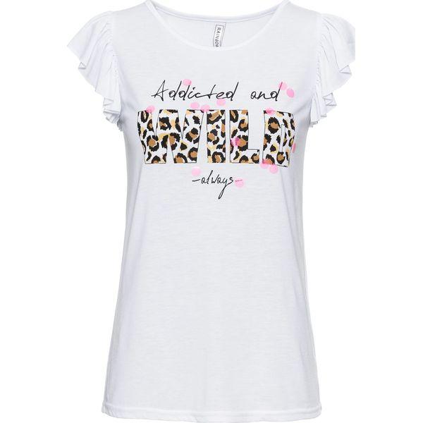 73b7b5c41 T-shirt bonprix biały z nadrukiem - T-shirty damskie marki bonprix. Za  32.99 zł. - T-shirty damskie - T-shirty i topy damskie - Odzież damska -  Dla kobiet ...