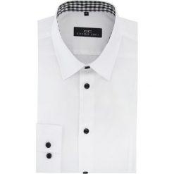 Koszula MICHELE 15-11-09-W. Białe koszule męskie Giacomo Conti, z bawełny, z klasycznym kołnierzykiem. Za 199.00 zł.