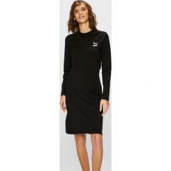 Puma - Sukienka. Czarne sukienki damskie Puma, z bawełny, casualowe, z okrągłym kołnierzem. Za 219.90 zł.
