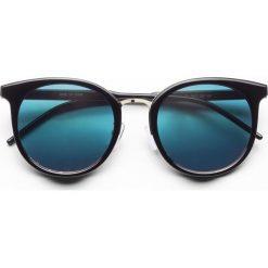 Okulary przeciwsłoneczne bonprix czarny. Okulary przeciwsłoneczne damskie marki WED'ZE. Za 34.99 zł.