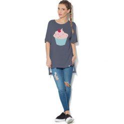 Colour Pleasure Koszulka CP-033  117 grafitowa r. uniwersalny. T-shirty damskie Colour Pleasure. Za 76.57 zł.