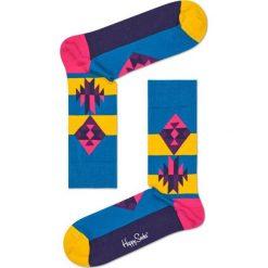 Happy Socks - Skarpety Inca. Niebieskie skarpety męskie Happy Socks, z bawełny. Za 34.90 zł.