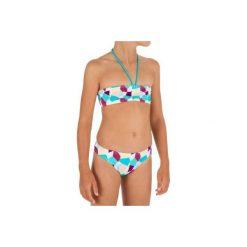 Góra kostiumu LALI CALI JR. Brązowe stroje kąpielowe dla dziewczynek OLAIAN. W wyprzedaży za 24.99 zł.