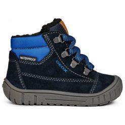 Geox Chłopięce Buty Zimowe Za Kostkę Omar, 27, Niebieskie. Niebieskie buty zimowe chłopięce Geox, z gumy. Za 309.00 zł.