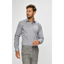 Pierre Cardin - Koszula. Szare koszule męskie Pierre Cardin, z bawełny, z włoskim kołnierzykiem, z długim rękawem. W wyprzedaży za 259.90 zł.