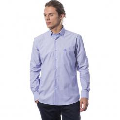 Koszula w kolorze chabrowym. Niebieskie koszule męskie Roberto Cavalli, Trussardi, z klasycznym kołnierzykiem. W wyprzedaży za 339.95 zł.
