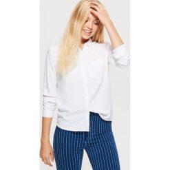 Gładka koszula - Biały. Białe koszule damskie Cropp. Za 49.99 zł.