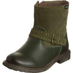 Skórzane botki w kolorze khaki. Botki dziewczęce Zimowe obuwie dla dzieci. W wyprzedaży za 145.95 zł.