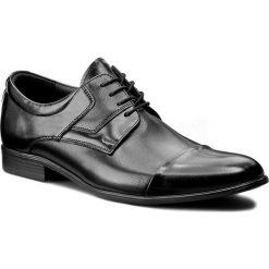 Półbuty LASOCKI FOR MEN - A-5465K Czarny. Czarne eleganckie półbuty Lasocki For Men, z materiału. Za 229.99 zł.