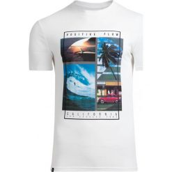T-shirt męski TSM606 - biały - Outhorn. Białe t-shirty męskie Outhorn, na lato, z bawełny. Za 39.99 zł.