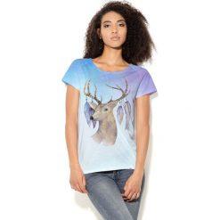 Colour Pleasure Koszulka CP-034  77 niebieska r. M/L. Bluzki damskie marki Colour Pleasure. Za 70.35 zł.