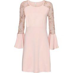 Sukienka bonprix jasnoróżowy. Czerwone sukienki damskie bonprix. Za 129.99 zł.