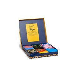 Skarpetki Happy Socks X The Beatles XBEA10-2000. Szare skarpety męskie Happy Socks, z bawełny. Za 200.00 zł.