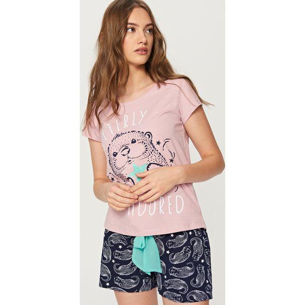 672f810bb7ff90 Dwuczęściowa piżama - Fioletowy - Piżamy damskie marki Reserved. W ...
