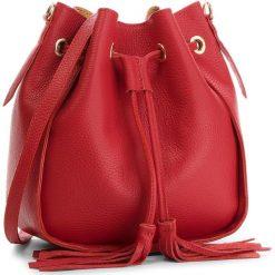 Torebka CREOLE - K10540  Czerwony. Czerwone torebki do ręki damskie Creole, w geometryczne wzory, ze skóry. Za 169.00 zł.