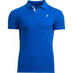 Koszulka polo męska TSM610 - niebieski - Outhorn. Niebieskie koszulki polo męskie Outhorn, na lato, z bawełny. W wyprzedaży za 39.99 zł.