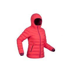 Kurtka narciarska SKI-P JKT 500 WARM damska. Czerwone kurtki damskie WED'ZE, z puchu. Za 299.99 zł.