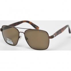 Polaroid - Okulary PLP0202. Brązowe okulary przeciwsłoneczne męskie Polaroid, z materiału. Za 519.90 zł.