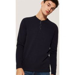 Koszulka z długim rękawem - Granatowy. Niebieskie bluzki z długim rękawem męskie House. Za 59.99 zł.