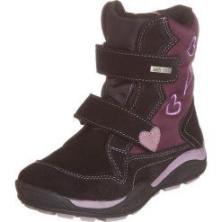 Skórzane botki w kolorze czarnym. Botki dziewczęce Zimowe obuwie dla dzieci. W wyprzedaży za 142.95 zł.