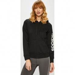 Adidas Performance - Bluza. Czarne bluzy damskie adidas Performance, z nadrukiem, z bawełny. Za 199.90 zł.