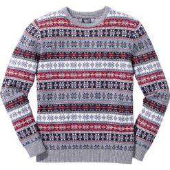 ddb10b9ad950 bonprix. Swetry przez głowę męskie. 37.99 zł. W modny norweski wzór. Sweter  norweski Regular Fit bonprix jasnoszary melanż.