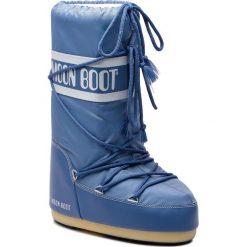 Śniegowce MOON BOOT - Nylon 14004400078 Stone Wash D. Niebieskie śniegowce i trapery damskie Moon Boot, z materiału. Za 360.00 zł.