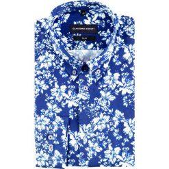 Koszula SIMONE slim KDNS000398. Szare koszule męskie Giacomo Conti, z bawełny, button down. Za 199.00 zł.