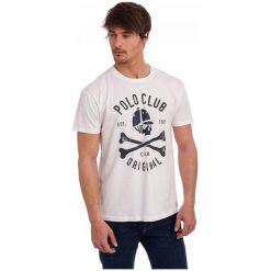 Polo Club C.H..A T-Shirt Męski M Biały. Białe koszulki polo męskie Polo Club C.H..A. W wyprzedaży za 109.00 zł.