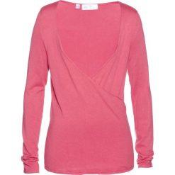 Sweter kopertowy bonprix pastelowy jasnoróżowy. Swetry damskie marki bonprix. Za 37.99 zł.
