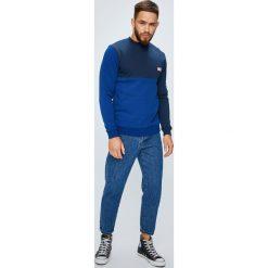 DC - Bluza. Niebieskie bluzy męskie DC, z nadrukiem, z bawełny. W wyprzedaży za 239.90 zł.