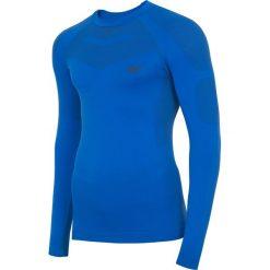 Bielizna bezszwowa (góra) męska BIMB300G - niebieski. Bielizna termoaktywna męska marki 4f. Za 99.99 zł.