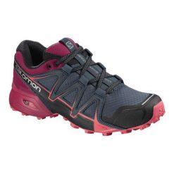 Salomon Damskie Buty Speedcross Vario 2 W, Stormy Weather/Cerise./Dubarry, 38.7. Czerwone obuwie sportowe damskie Salomon. Za 449.00 zł.